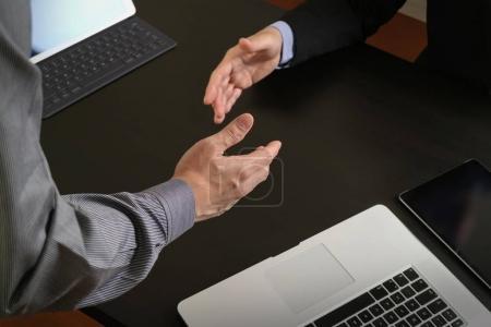 Business partnership meeting concept.photo businessmans handshak