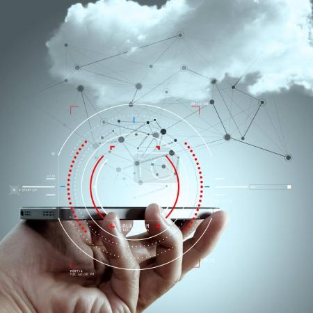 Concept of target focus digital diagram,graph interfaces,virtual