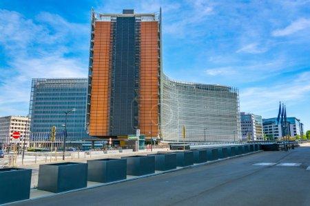 Photo pour Bâtiment Berlaymont de la Commission européenne à Bruxelles, Belgique - image libre de droit