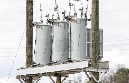 Three Electric Utility Transformers