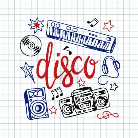Illustration pour Illustration vectorielle de fond musical coloré - image libre de droit