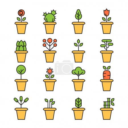 Illustration for Vector illustration design of Plant icon - Royalty Free Image