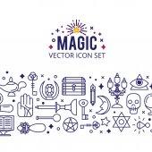 Magic icons illustration