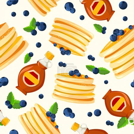 pattern with pancakes and berries