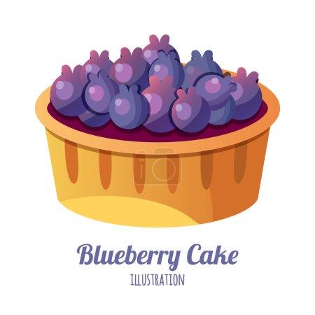 Illustration pour Cupcake à la crème fouettée isolé sur blanc - image libre de droit