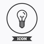 Light bulb icon. Lamp E14 screw socket symbol.