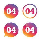 Fourth step sign Loading process symbol Step four Gradient buttons with flat icon Speech bubble sign Vector