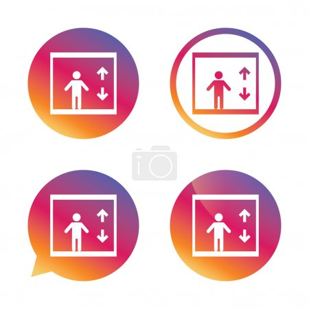 Elevator icon. Person symbols