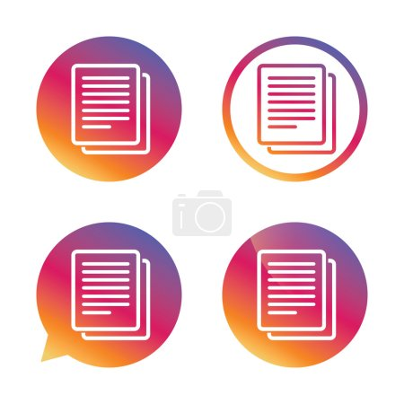 Copy file sign icons