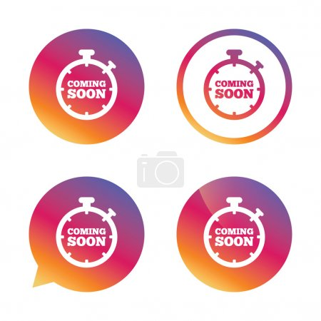 Coming soon icons