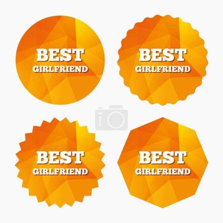 Best girlfriend sign icon.