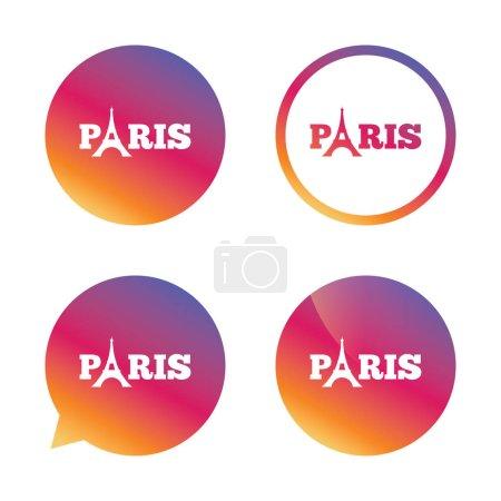 Eiffel tower icons