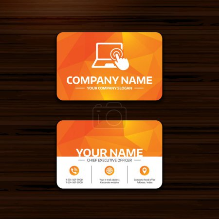 Business or visiting card template