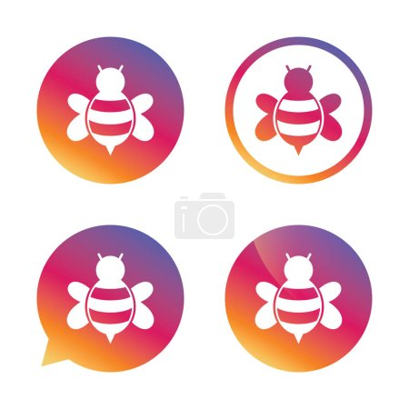 Bee sign icon
