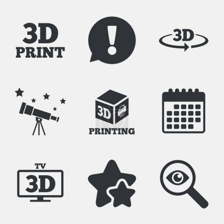 3d technology icons.