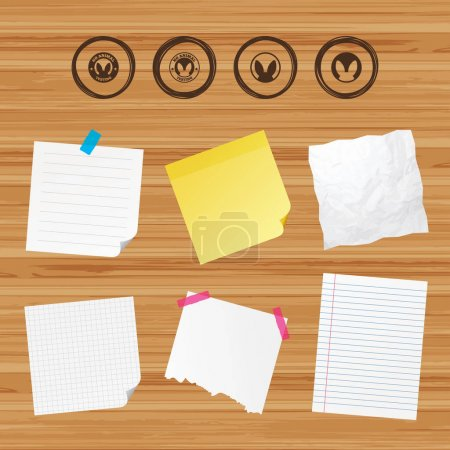 Sticky papers and icons set