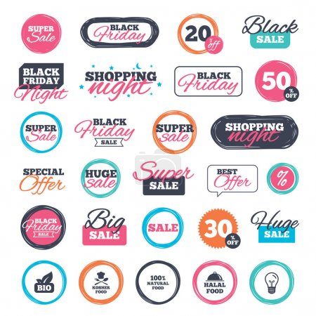 Sale shopping stickers and banners.