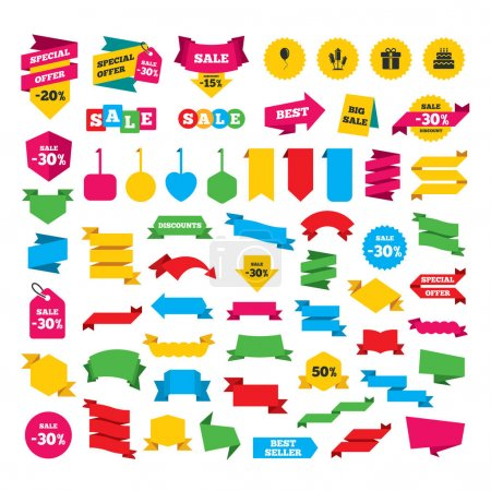 Web stickers, banners and labels