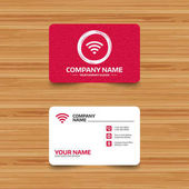 Business card template with texture Wifi sign Wi-fi symbol Wireless Network icon Wifi zone Phone web and location icons Visiting card  Vector