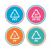 PET 1 PP-pe 07 PP 5 and PE icons
