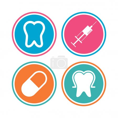 Tooth enamel icons