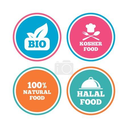 Bio food icons