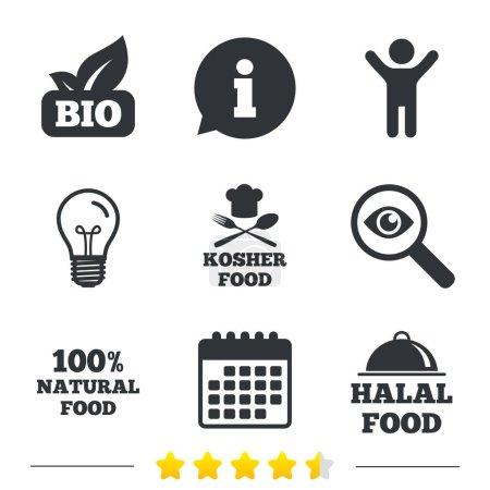 Natural Bio food icons