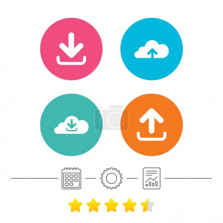Upload from cloud icons