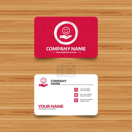 Business card template with texture