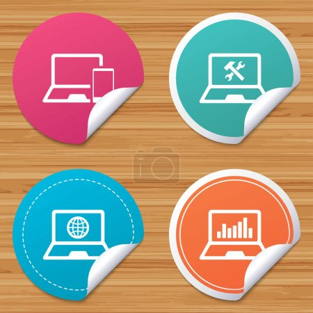 laptop icons set