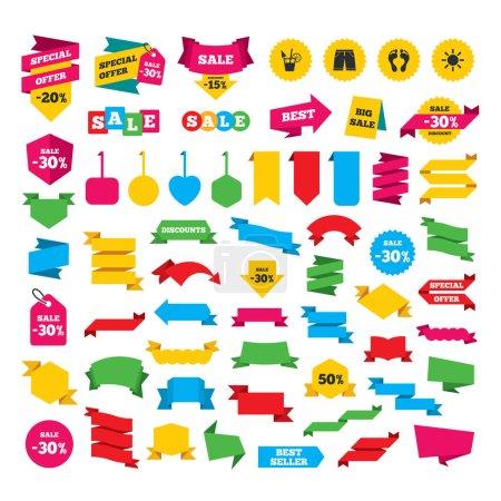 Web stickers set