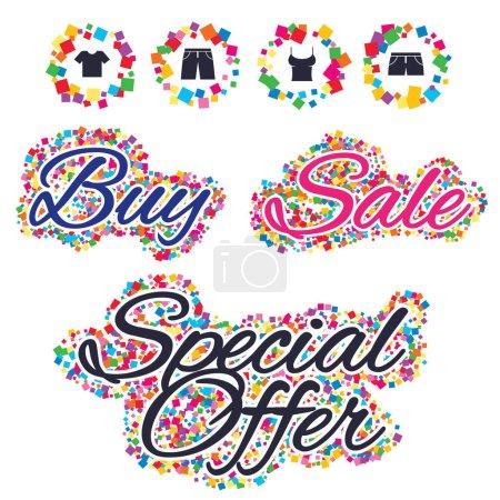 Sale confetti labels