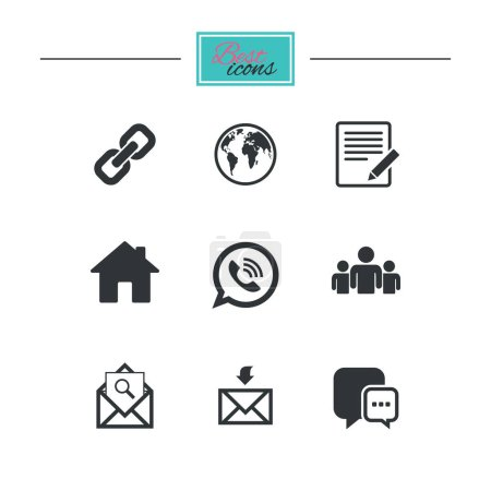design of Communication icons