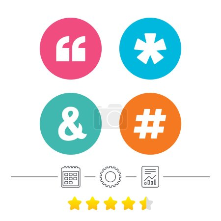 Quote, asterisk footnote icons.