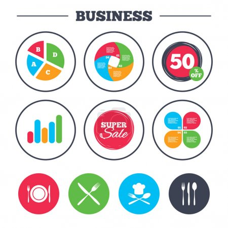 Business pie chart icons
