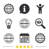 Certification icons set