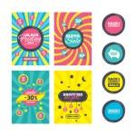 Sale website banner templates. Back to school sale...