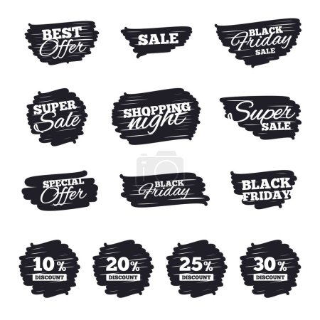 Sale discount icons set