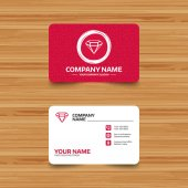 Business card templates Diamond sign icons Jewelry symbols Gem stones Phone web and location icons Visiting card set Vector illustration