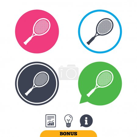 Tennis racket sign icons. Sport symbol.