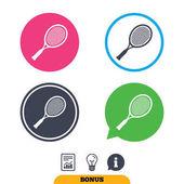 Tennis racket sign icons. Sport symbol.