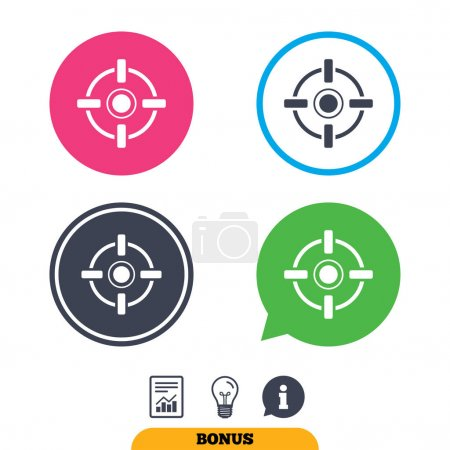 Crosshair sign icons. Target aim symbol.