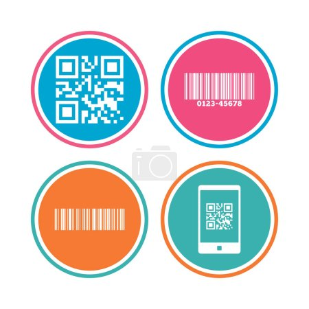 Bar and Qr code icons.