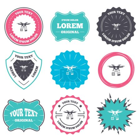 badges wwith place for text set