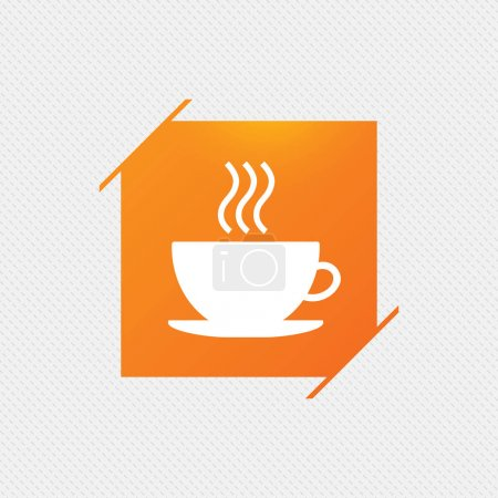 Coffee cup sign icon