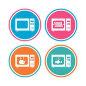 microwave oven sign icons