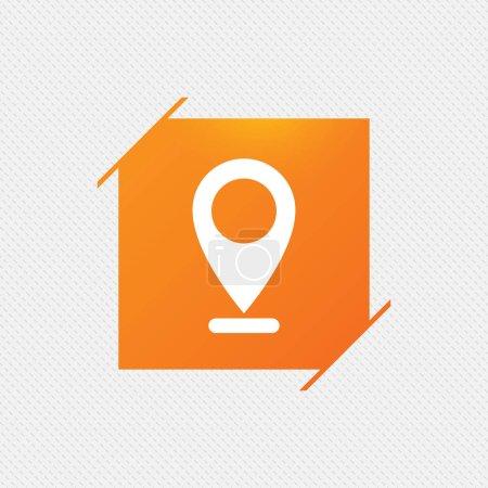 Internet mark icon. Navigation pointer symbol.