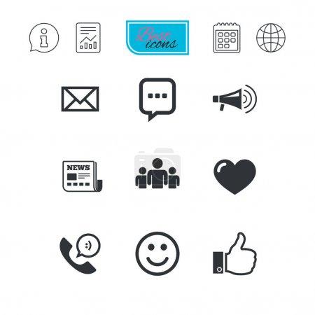 Ilustración de Los iconos de servicios de correo ilustración vectorial - Imagen libre de derechos