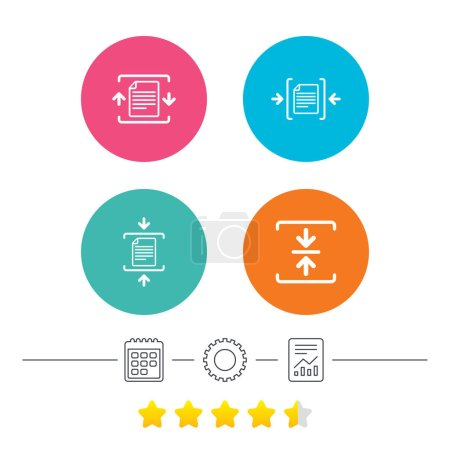 Vector illustration of document simple signs icons...