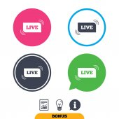 Live sign icon